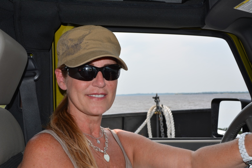 in my jeep on the ferry