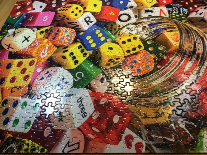 Bright, colorful Dice Puzzle
