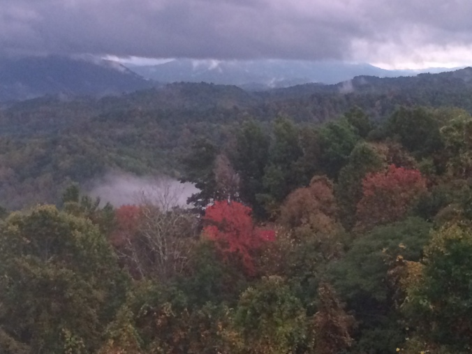 clouds and colors smoky mountains