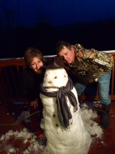friends with a snowman