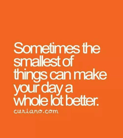 life quote, small things