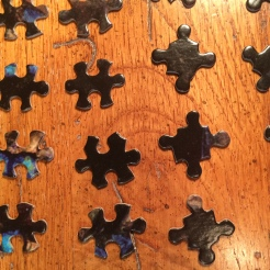Puzzle pieces separated