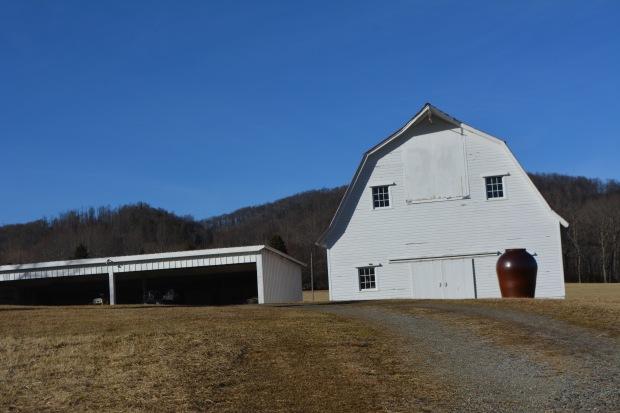 Amish inspired white barn, Ashe County, N.C.