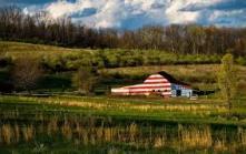 Flag colored barn