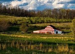 Flag colored barn