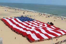 flag on beach