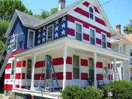 Patriotic homeowners