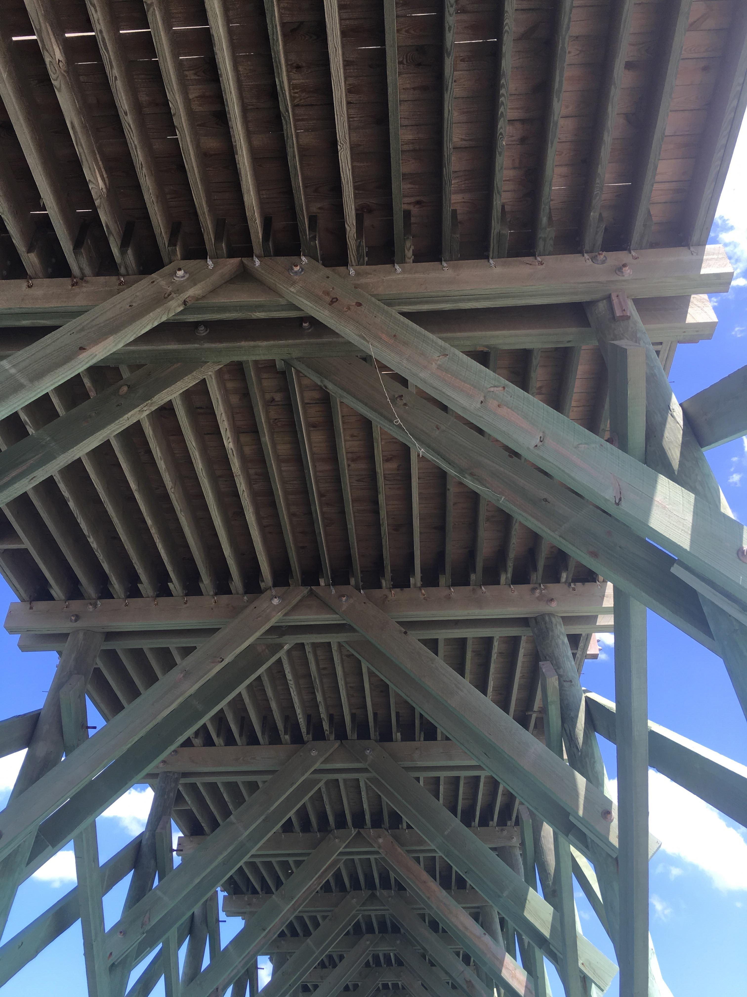 Underneath Crystal Pier Wrightsville Beach