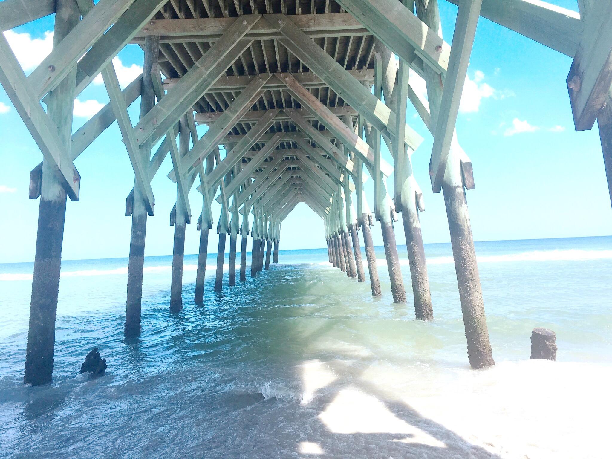 Under Crystal Pier Wrightsville Beach